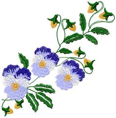 Flower free embroidery design 41 - Flowers free machine embroidery designs - Machine embroidery community