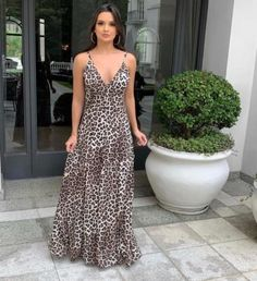 Dressy Casual Outfits, Cool Outfits, Vestidos Animal Print, Outfit Goals, Beautiful Dresses, Beachwear, Fashion Dresses, Summer Dresses, Clothes For Women