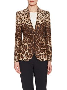 Animal Printed Blazer by Dolce