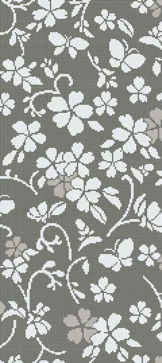 Hana-Flower Grey A, pattern in Bisazza glass mosaic, 10x10mm tiles. Design by Nendo.