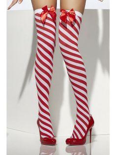 Candy Stripe Thigh High Stockings -fun