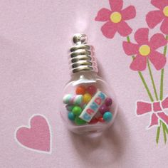 Sweet As Candy Glass Vial Pendant Charm Bottle Charms, Clay Charms, Welcome September, Diy Jewelry, Jewelry Making, Miniature Bottles, Glass Vials, Glass Candy, Polymer Clay Miniatures