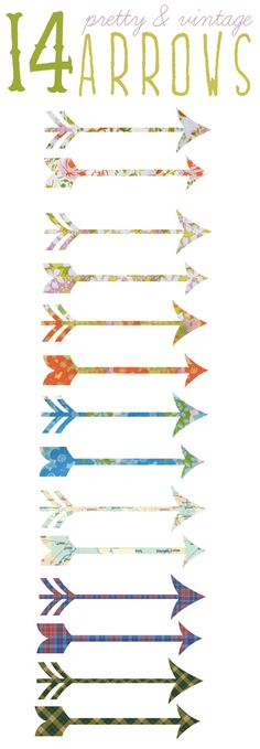 Free arrow clipart available from Vanagon Champion! What a great way to decorate handouts for your chapter meetings!