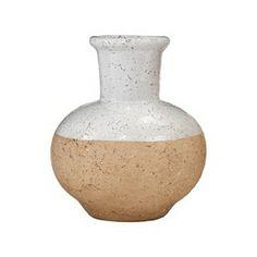 """Nate Berkus™ Stoneware Vase - Natural/White (7.5"""") : Target Mobile"""
