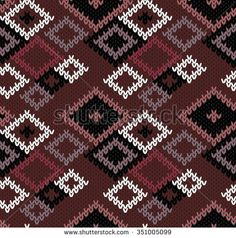 Knitted seamless pattern. Vector illustration