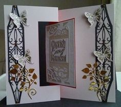 Card made using Tonics new Flip Flop dies and then embellished with their splendid screen die and flourishes