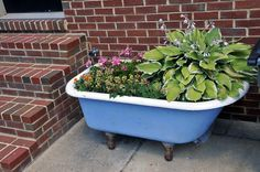 Love clawfoot tubs in the garden.