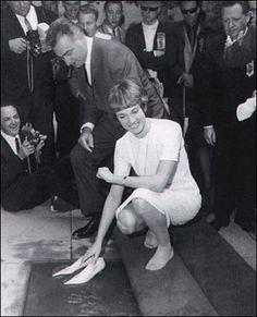 Julie Andrews 1966. hollywood walk of fame