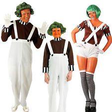 Factory Worker Fancy Dress Costume Umpa Lumpa Willy Wonka Adult Child Boys Girls