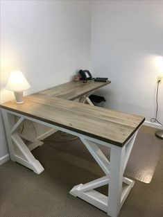 Farmhouse Desk Custom Made by Pallet Creators