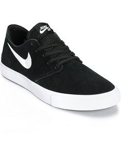 Nike SB Zoom Oneshot Black & White Suede Skate Shoes