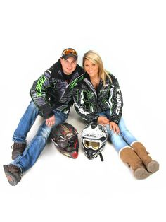 Couple Photos. We're both in to snowmobiling.