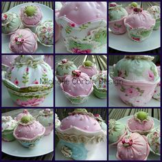 Fabric Cupcakes for display or used as Pin Cushions
