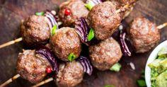 Recette de Boulettes végétarienne en brochette au barbecue. Facile et rapide à réaliser, goûteuse et diététique. Ingrédients, préparation et recettes associées.