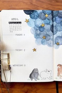 20 Adorable April Weekly Spreads For Bullet Journal Addicts - yasmine.pinboard 20 Adorable April Weekly Spreads For Bullet Journal Addicts - Bullet Journal Notebook, Bullet Journal Aesthetic, Bullet Journal School, Bullet Journal Inspo, Bullet Journal Spread, Bullet Journal Layout, Bullet Journal Ideas Pages, Bullet Journals, Arc Notebook