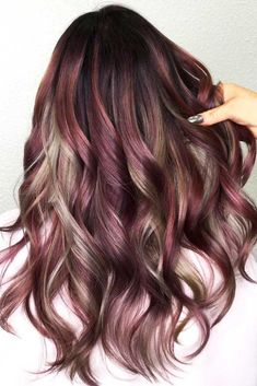 Hair Color 2017/ 2018      Chocolate Lilac And Grey Highlights #purplehair #highlights ❤️ Chocolate lilac hair has become trendy these days. Have you already seen all the latest hot shades? You can observe them in our photo gallery. ❤️ See more: lovehairstyles.co… #lovehairstyles #hair #ha... #Color