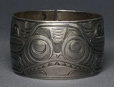 Charles Edenshaw coin silver bracelet. est $75,000.