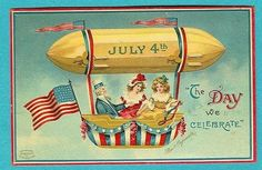 Vintage postcards for the of July - Click Americana 4th Of July Images, Patriotic Images, Patriotic Posters, Patriotic Crafts, Patriotic Party, July Crafts, Happy Fourth Of July, July 4th, Vintage Greeting Cards