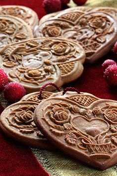 gingerbread hearts | Flickr - Photo Sharing!