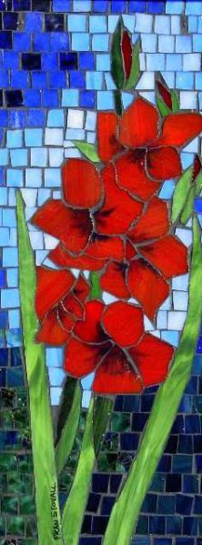 Fran Stoval :: Stained Glass, Pastel, Mosaic Artist and Author Mosaic Pots, Mosaic Garden, Mosaic Wall, Mosaic Glass, Mosaic Tiles, Tile Art, Mosaic Flowers, Stained Glass Flowers, Stained Glass Patterns