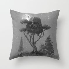 Dark Side of The Forest by Terry Fan #homedecor #pillows #starwars
