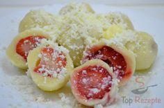 Die einfachsten Obstknödel aus Quarkteig | Top-Rezepte.de