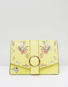 Get this Asos's shoulder bag now! Click for more details. Worldwide shipping. ASOS HERO Floral Embroidered Shoulder Bag - Yellow: Bag by ASOS Collection, Faux-leather outer, Lined design, Single strap, Front flap with magnetic clasp closure, Interior zip pocket, Wipe with a damp sponge, 100% Polyurethane, H: 19cm/7 W: 28cm/11 D: 9cm/4, Strap: 34cm/13. Score a wardrobe win no matter the dress code with our ASOS Collection own-label collection. From polished prom to the after party, our…