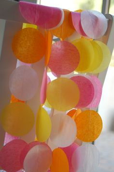 Tissue Paper Garland