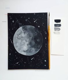 Acrylic Moon Painting - Inspire Source by xvxlaraxvx Paintings Tumblr, Tumblr Drawings, Tumblr Art, Dog Paintings, Painting Inspiration, Art Inspo, Kunst Inspo, Moon Drawing, Moon Painting
