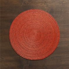 Tropical Palm Picante Placemat in Placemats | Crate and Barrel