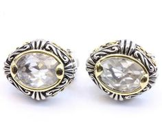 CLIP ON EARRINGS - Oval Clear Crystal Earrings HopeChestJewelry. $24.49. Save 50%!