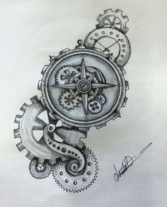 Image result for compass steampunk design