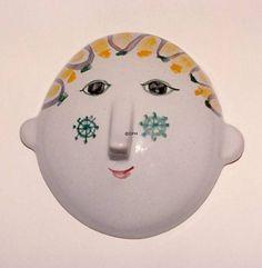 Wiinblad Mask, Medium, hand painted, blue/white or multi colour