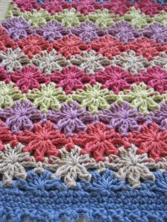 crochet - great stitch - Floreal top, crocheted in BWM 8ply cotton - pattern on ralevry