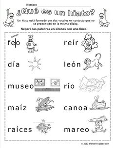 The Learning Patio Spanish Grammar, Teaching Spanish, Spanish Language, Speech Language Therapy, Speech And Language, Word Study, Word Work, Teaching Babies, Homeschool Kindergarten