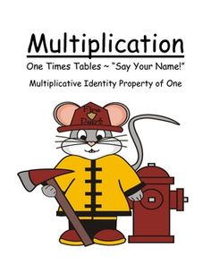 Here you'll find several different sets of cards for practicing the identity property of multiplication.