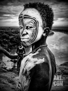 A Boy of the Karo Tribe. Omo Valley (Ethiopia) Photographic Print by Joxe Inazio Kuesta at Art.com