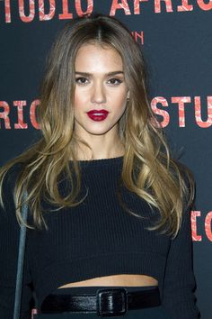 Jessica Alba hair and makeup.