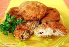 Karbanátky z ovesných vloček Salmon Burgers, Paleo, Food And Drink, Chicken, Meat, Vegetables, Ethnic Recipes, Kebabs, Gardening
