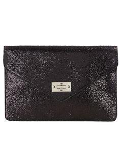 009b669ed6 Kardashian black glitter clutch  DorothyPerkins Glitter Envelopes