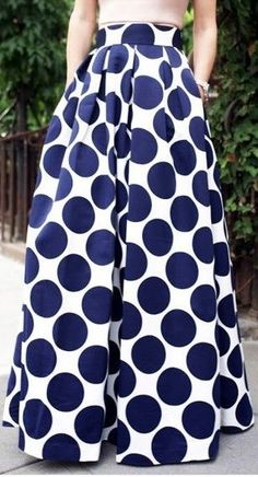 Pleated Dot Print Ball Skirt- oh lord this is a gorgeous skirt Look Fashion, Skirt Fashion, Fashion Outfits, Womens Fashion, Modern Fashion, Skirt Outfits, Dress Skirt, Cute Outfits, Midi Skirt