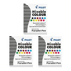 3 BOXES: Pilot Parallel Pen Ink Refills for Calligraphy P...