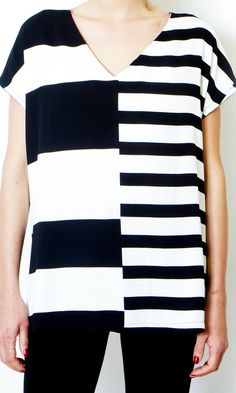 c4c291c6211 Black And White Striped V Neck Shirt Short Sleeve Loose blouse Maternity Striped  Shirt Oversized Sum