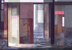 "Mania Efstathiou, ""Internal Choice"", digital collage printed on plexiglas Digital Collage, Solitude, Plexus Products, Oversized Mirror, Windows, Prints, Home Decor, Decoration Home, Room Decor"
