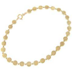 Jennifer Meyer Mini Disc Bracelet - Yellow Gold ($2,250) ❤ liked on Polyvore featuring jewelry, bracelets, gold, 14k gold jewelry, yellow gold bangle, yellow gold jewelry, 18 karat gold jewelry and 14 karat gold jewelry
