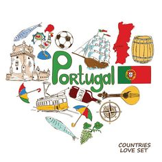 High quality Portugal inspired Wall Art by independent artists and designers from around the world. Portugal Country, Vespa Retro, Travel Clipart, Graphic Illustration, Illustrations, Watercolor City, Portugal Travel, Travel Posters, Travel Ad