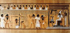 """A papyrus scroll showing """"The Last Judgement of Hunefer"""", a scribe in Thebes from the Dynasty. This scroll can be seen at the British Museum in London(Wikimedia Commons) Ancient Egypt Afterlife, Ancient Egyptian Religion, Egyptian Mythology, Egyptian Goddess, Ancient History, Art History, Ancient Myths, Egyptian Queen, British Museum"""
