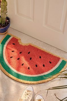 Slide View: 1: Sunnylife Watermelon Doormat