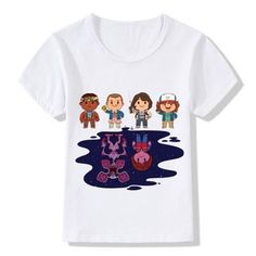 Boy And Girl Cartoon, Cartoon Kids, Boy Or Girl, Kids Outfits, Casual Outfits, Casual Clothes, Stranger Things Have Happened, Funny Tee Shirts, Summer Kids
