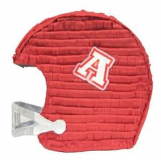 Aztec Imports Football Helmet Pinata by Aztec Imports Inc.. $17.99. Includes opening for filling pinata. Made of cardboard and tissue paper. Pinata can be filled with up to 2lbs of toys and candy. Makes great decoration and fun party game at theme birthday parties. Includes strong cable tie at the top for hanging pinata. From the Manufacturer                Highlight a football fan's birthday party with this helmet pinata. Comes in red.                        ...